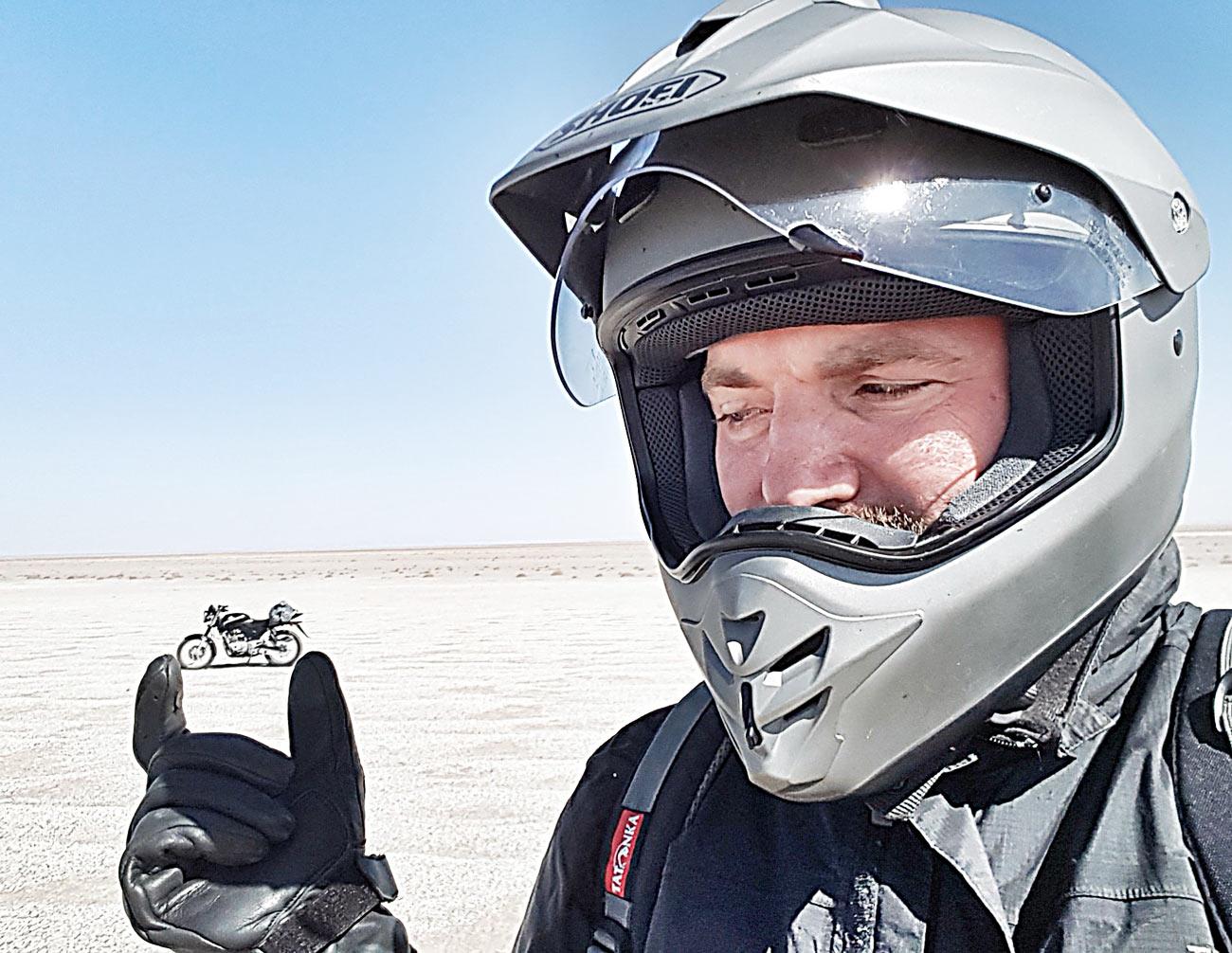 Geschenke für Motorradfahrer Gravur Iran Tour 2020 Wüste Motorradfahren Iran