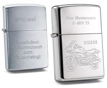 Zippo Feuerzeuge mit Gravur im Gravur-Shop diamandi.de